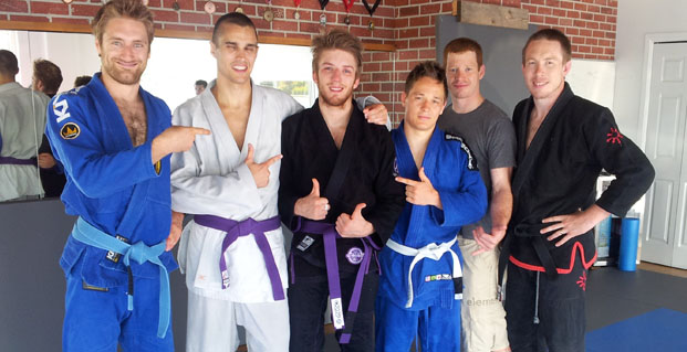 Louis Bernard-Desrosiers gets his Purple Belt